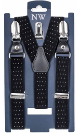 Dotted Kids Suspenders (2-13 years) | Black
