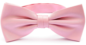Light pink bow tie silk
