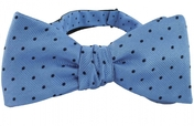 Self Tie Dots Light Blue/Navy