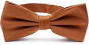 Brown bow tie silk