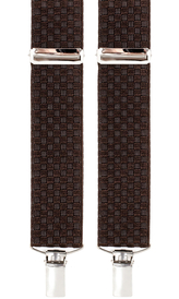 Suspenders 3,5 cm | Oxford | Brown