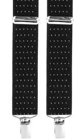 Dotted Suspenders 3,5 cm | Black