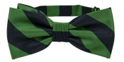 Striped Bow Tie Green | Black