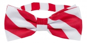 Striped Bow Tie Red | White