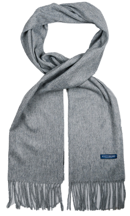 e68036925e62 Kashmir halsduk i grått från Scottsberry, tillverkad i 100% kashmir