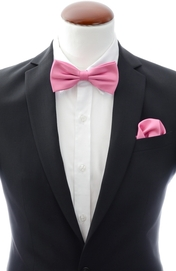 Dark pink bow tie and handkerchief