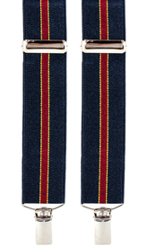 Striped Suspenders 3,5 cm | Navy