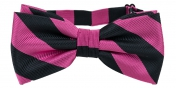Striped Bow Tie Pink | Black
