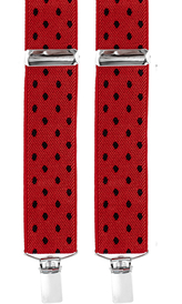 Dotted Suspenders 3,5 cm | Red
