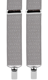 Dotted Suspenders 3,5 cm | Grey