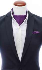 Ascot + Handkerchief Dark Purple