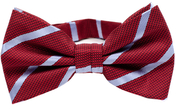 Red Bow Tie Blue Stripes