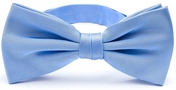 Light blue bow tie silk
