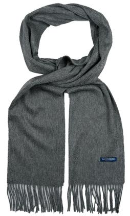 8ee757d8058e Kashmir halsduk från Scottsberry i mörkgrått, tillverkad i 100% kashmir