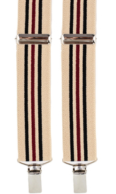 Striped Suspenders 3,5 cm | Beige