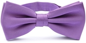 Purple bow tie silk