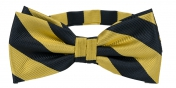 Striped Bow Tie Gold | Black