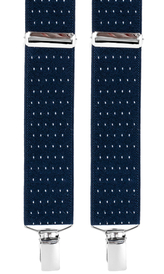 Dotted Suspenders 3,5 cm | Navy