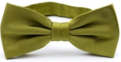 Lime green bow tie silk