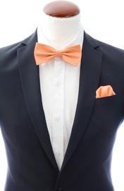 Apricot bow tie and handkerchief silk