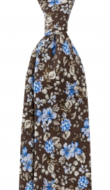 Slips Floral 6 cm | Brown Blue