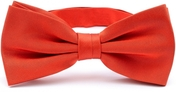 Light red bow tie silk