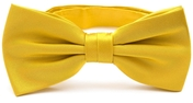 Mustard yellow bow tie silk