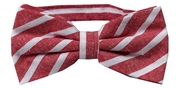 Cotton Bow Tie | Striped | Red