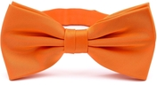 Orange bow tie silk