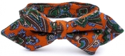 Grimsby Paisley Diamond tip Wool Bow Tie