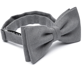 Wool Bow Tie - Grey