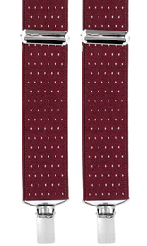 Dotted Suspenders 3,5 cm | Burgundy