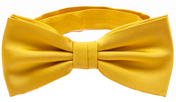 Dark yellow bow tie silk