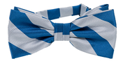 Striped Bow Tie Blue | Silver