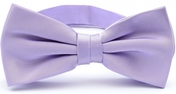 Light purple bow tie silk