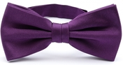 Dark purple bow tie silk