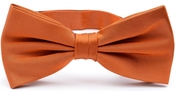 Rust orange bow tie silk