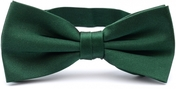 Dark green bow tie silk