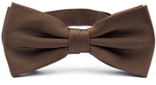 Dark brown bow tie silk